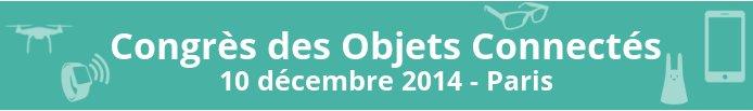 congrès des objets connectés -paris 2014