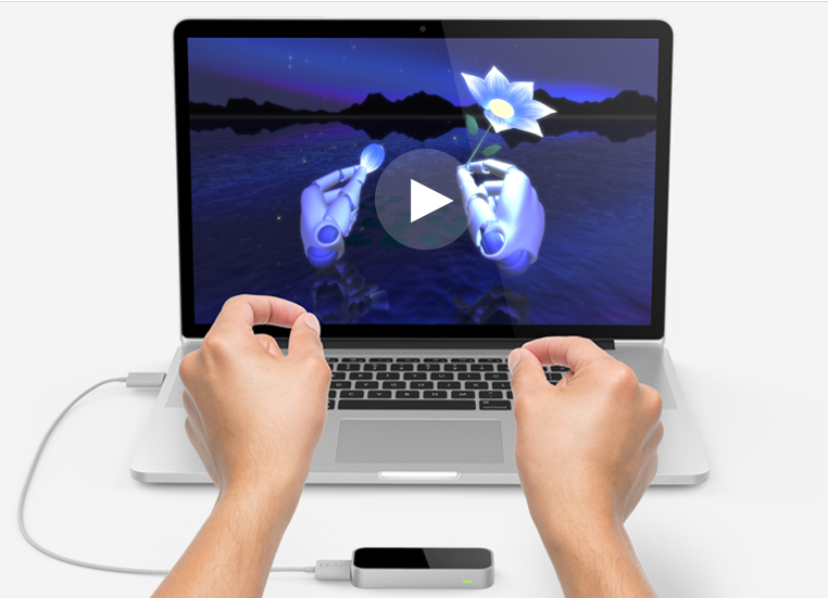 Leap Motion sans contact avec l'ordiateur